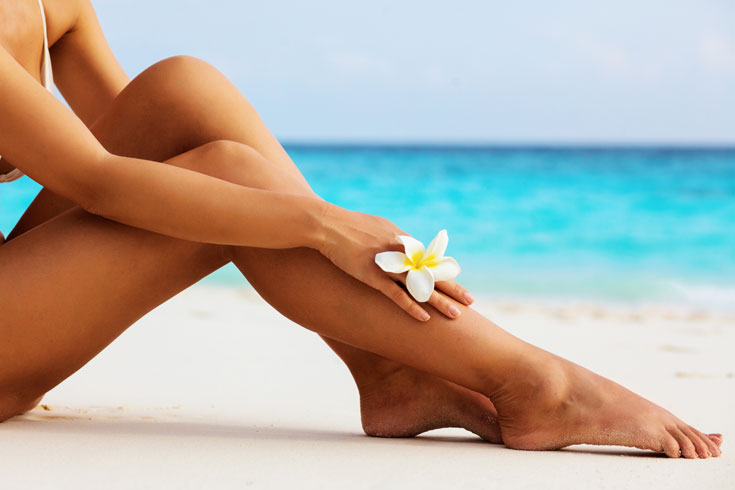 smooth legs at the beach
